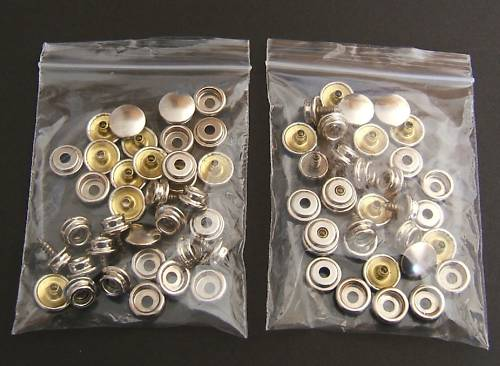 Snap Fastener Canvas To Screw Press Stud Refill 24 Pcs