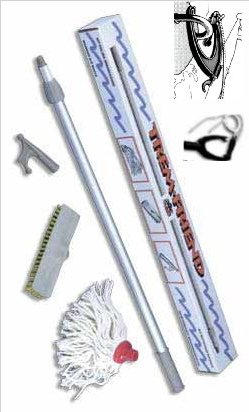 TREM 4 in 1 kit includes Mop, Deck Brush, Boat hook & Docker