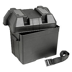 Black Battery Box 95Amp with strap