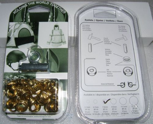 "BP22 EYELET KIT 8mm or 5/16"" With Hole Punch & Die Tools"