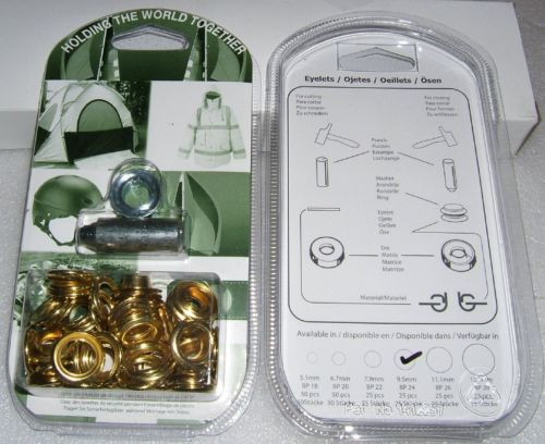 "BP24 EYELET KIT 10mm or 3/8"" With Hole Punch & Die Tools"