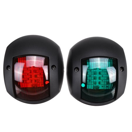 LED 12V Port and Starboard, Round, Black ABS