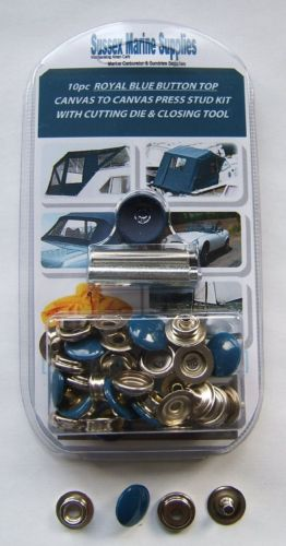 Snap Fastener Repair Kit ROYAL BLUE Canvas To Canvas Press Studs